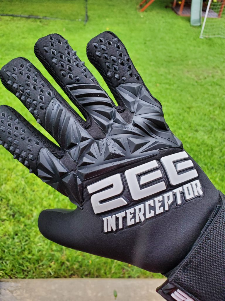 Interceptor Goalkeeper Gloves by ZEE - 4mm German Contact Latex and Removable wrist strap