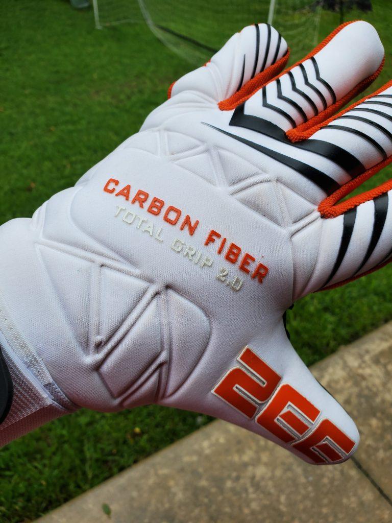 ZEE Carbon Fiber 2.0 Total Grip Goalkeeper Gloves 4mm German Contact Latex